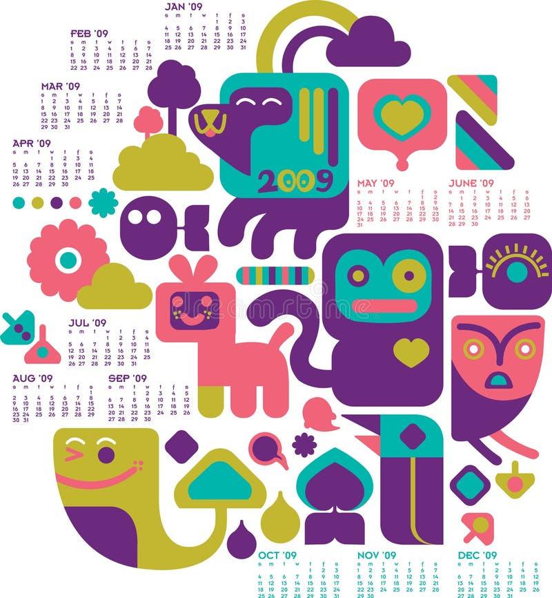 2009 Kalender stock illustratie
