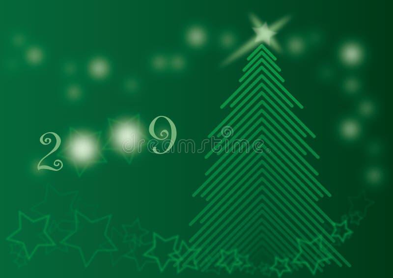 2009 karcianych chrismas zielony olśniewający drzewo zdjęcia royalty free