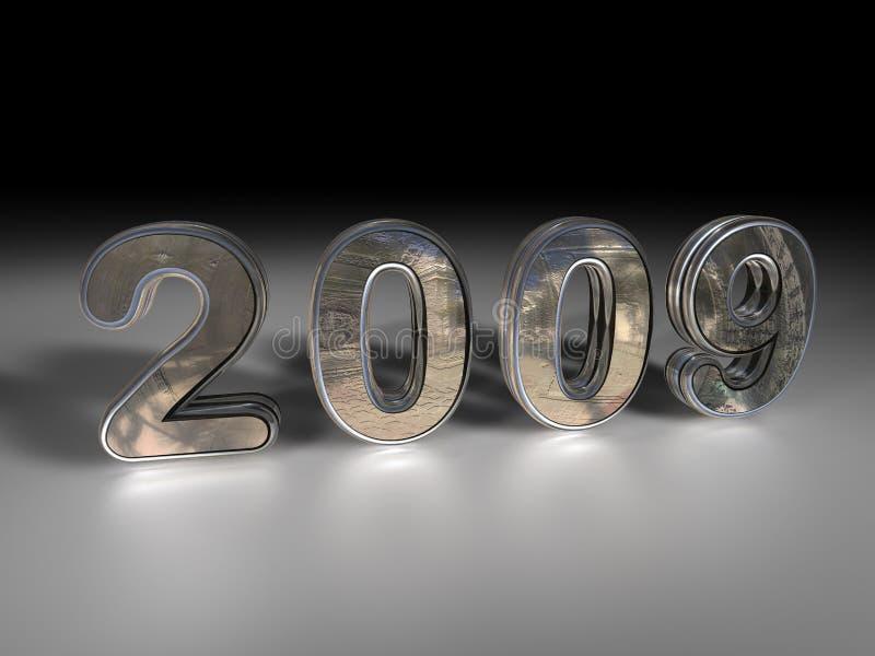 2009 kruszcowy ilustracja wektor