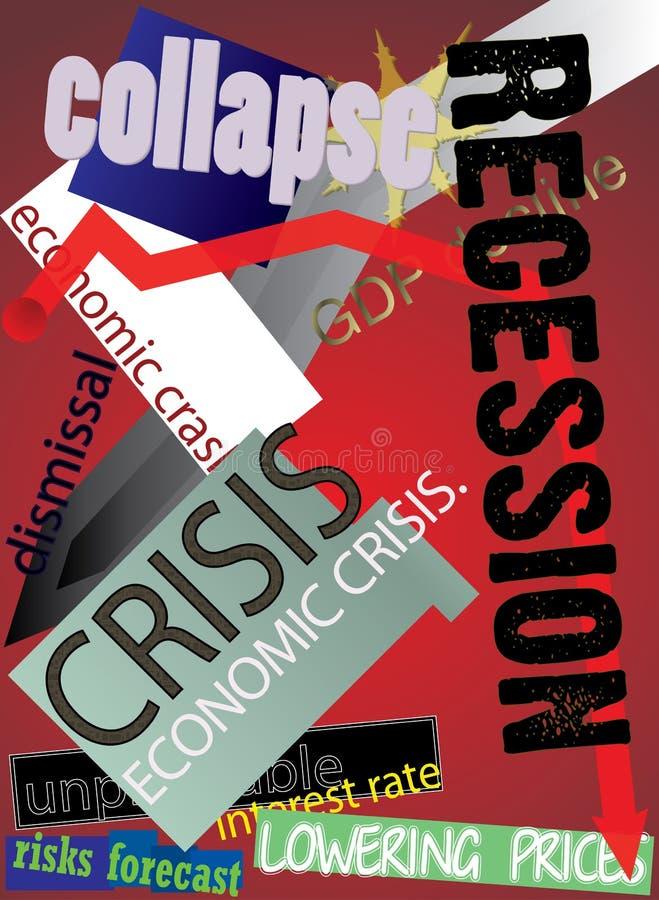 2009 kryzys globalny royalty ilustracja