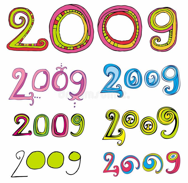 2009 logotipos ilustração royalty free