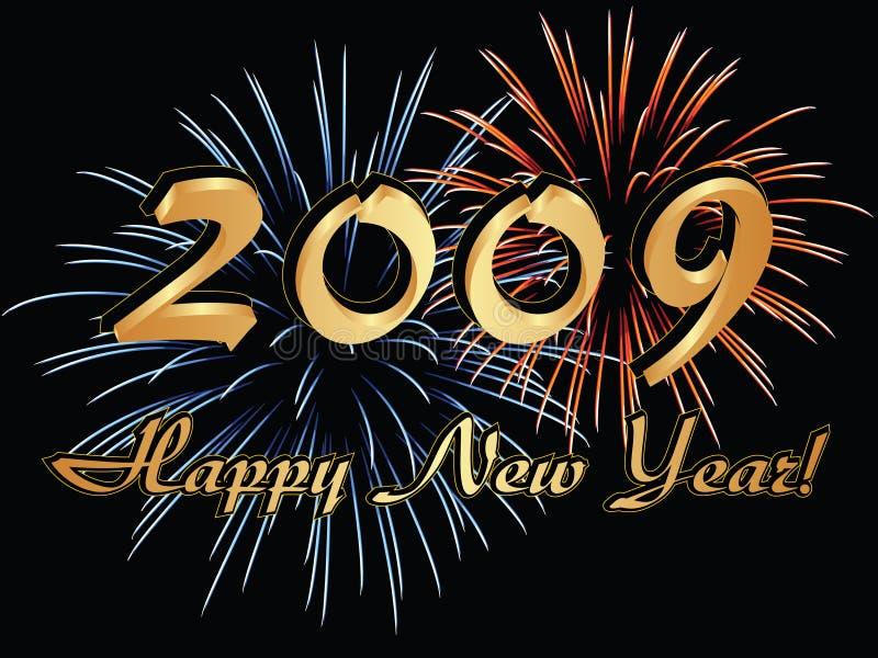 2009 lyckliga nya år stock illustrationer