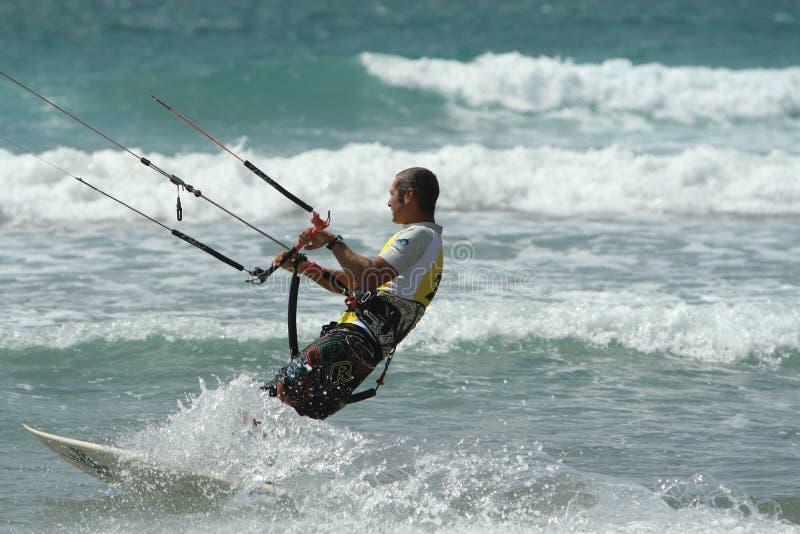 2009 mistrzostwa kitesurf kitesurfer Spain fotografia stock