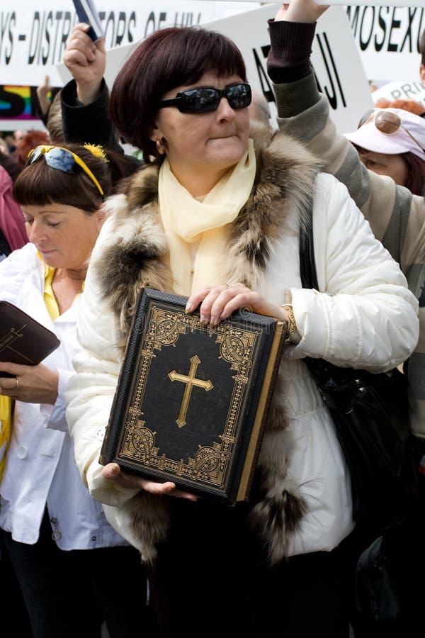 2009 mot stolthetprotestors riga royaltyfria foton