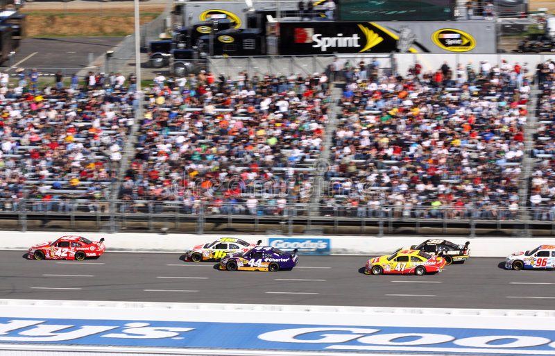 2009 NASCAR - Montoya conduz o bloco imagens de stock