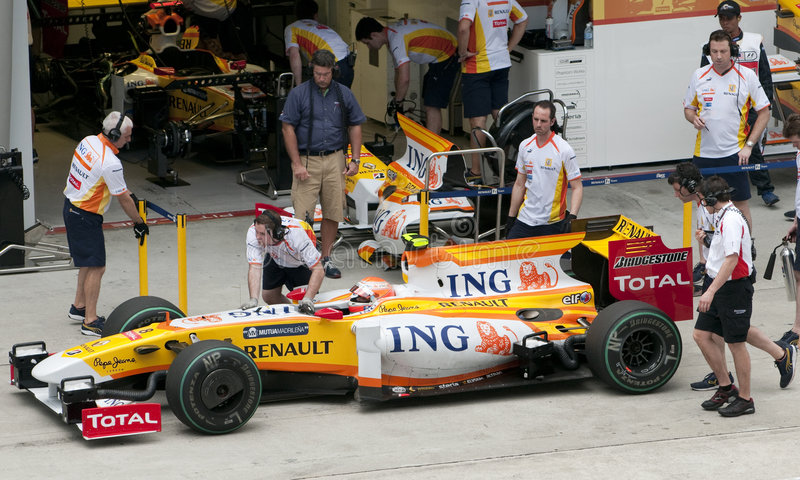 2009 Nelson Piquet Jr. at Malaysian F1 Grand Prix royalty free stock photography