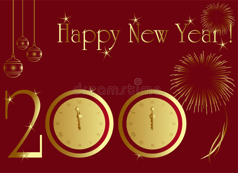 Download 2009 New Year Card Stock Photo - Image: 7355130