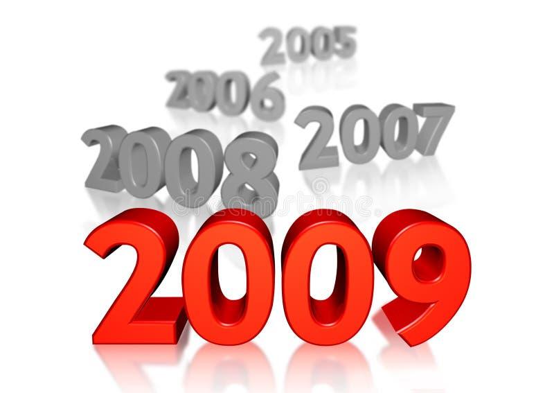 2009 nowego roku royalty ilustracja