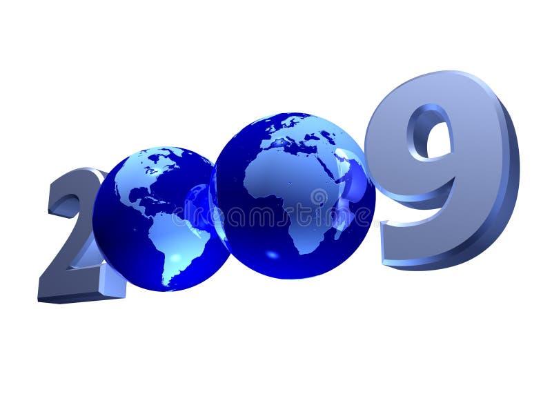 2009 nowy rok ilustracja wektor