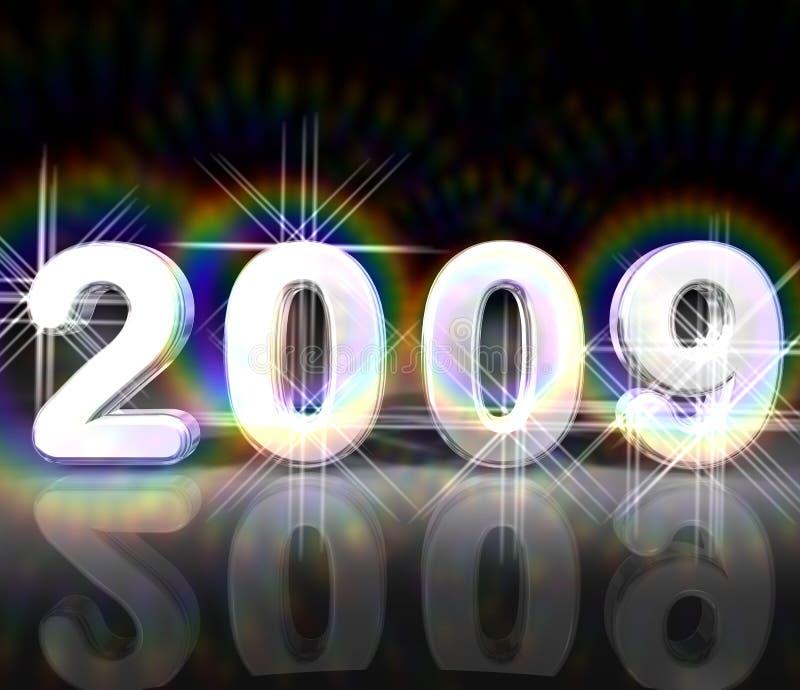 2009 nuovi anni illustrazione di stock