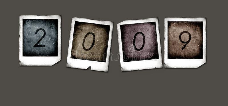 2009 polaroidów royalty ilustracja