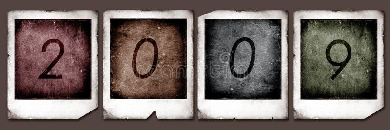 2009 polaroidcamera's stock illustratie