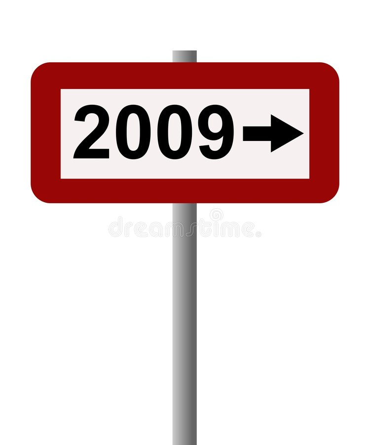 2009 sign vector illustration