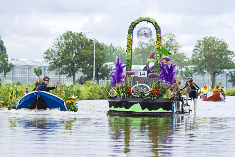 2009 spławowych kwiatu parady westland obrazy stock