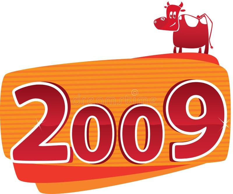 2009 Stier vector illustratie