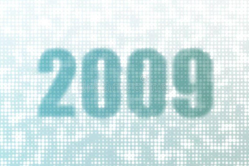 2009 szczęśliwych nowy rok ilustracji