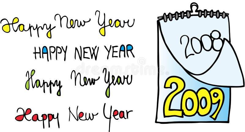 2009 szczęśliwych nowy rok royalty ilustracja