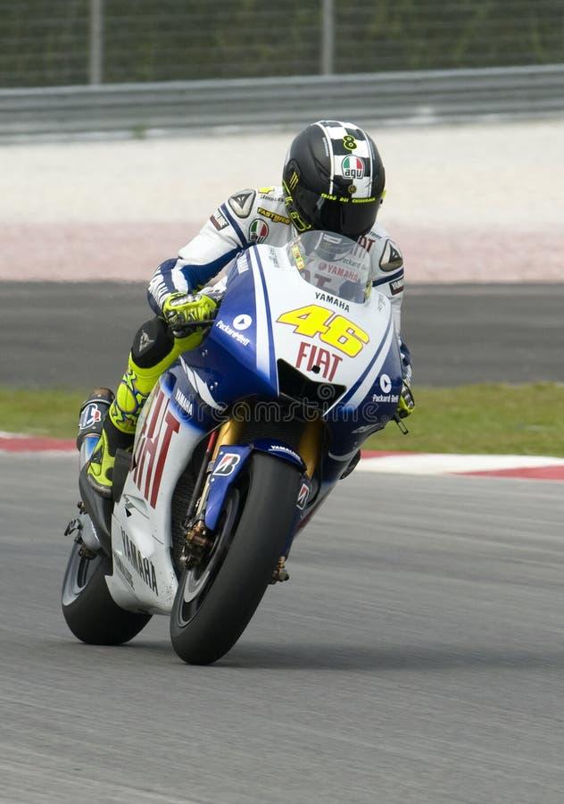 2009 Valentino Rossi of Fiat Yamaha Team royalty free stock photos