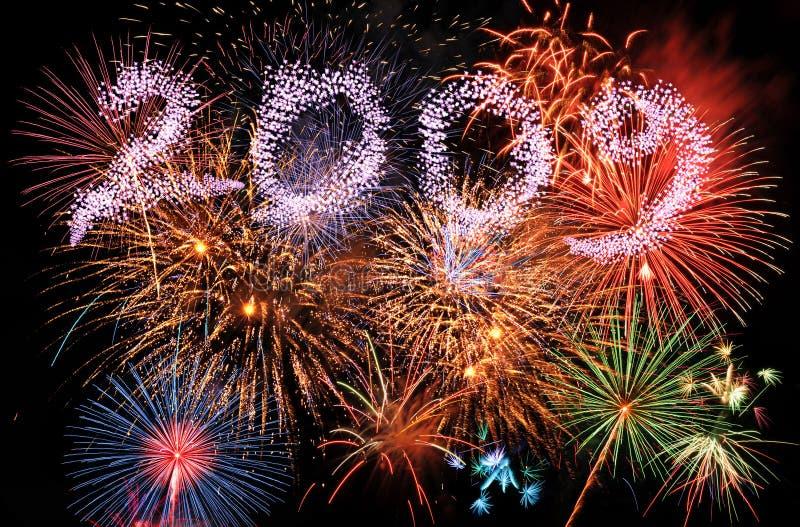 2009 vuurwerk stock afbeelding