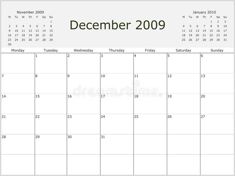 Download 2009 Year Monthly calendar stock illustration. Illustration of july - 7013869