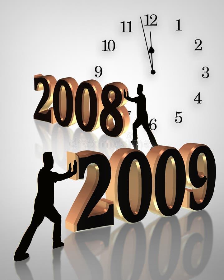 2009 zegarowych ilustracyjnych nowego roku ilustracja wektor