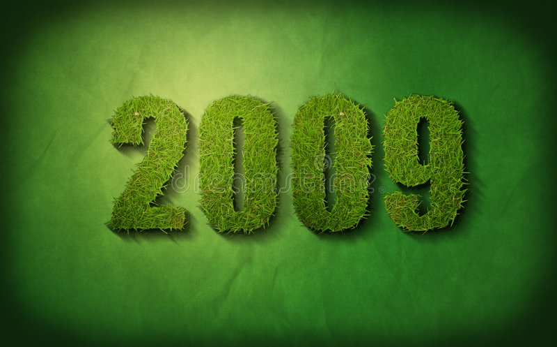 2009 zieleń ilustracja wektor