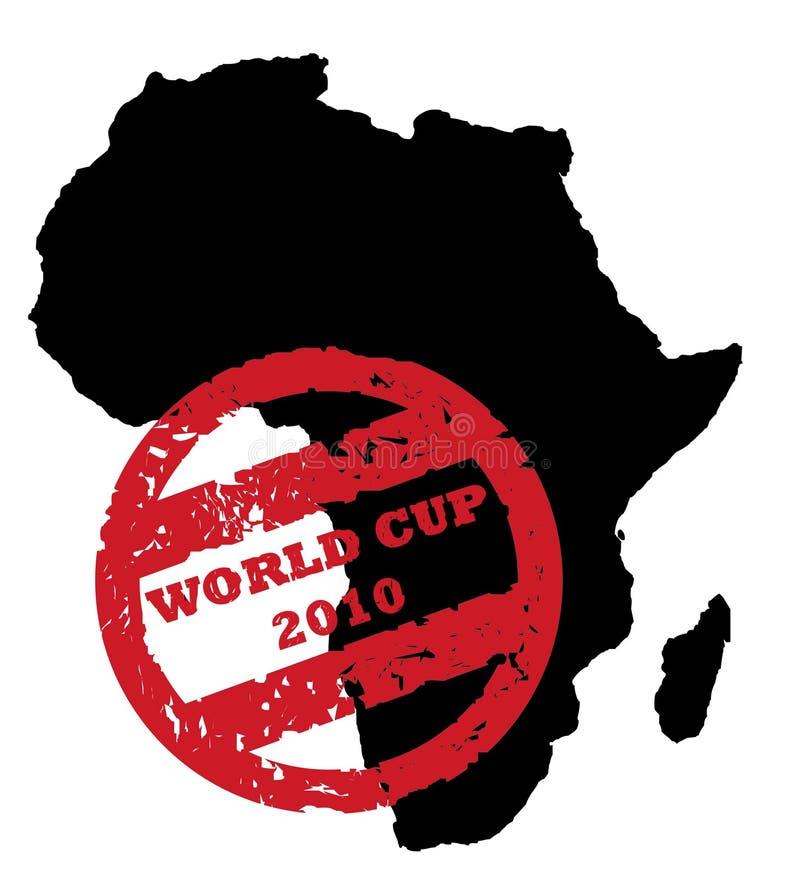 2010个杯子足球世界 库存例证