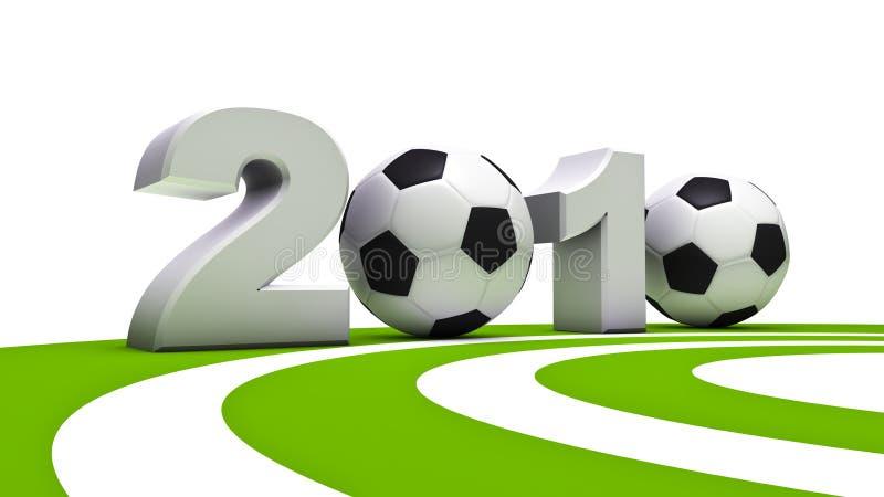 2010个杯子足球世界 向量例证