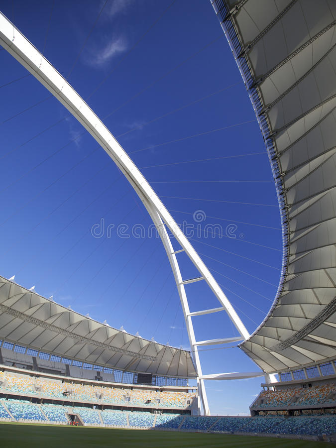 2010个杯子fifa mabhida摩西体育场世界 库存照片