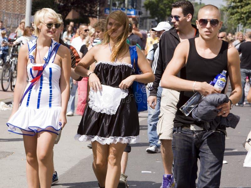 2010个爱游行说胡话的人 免版税库存照片