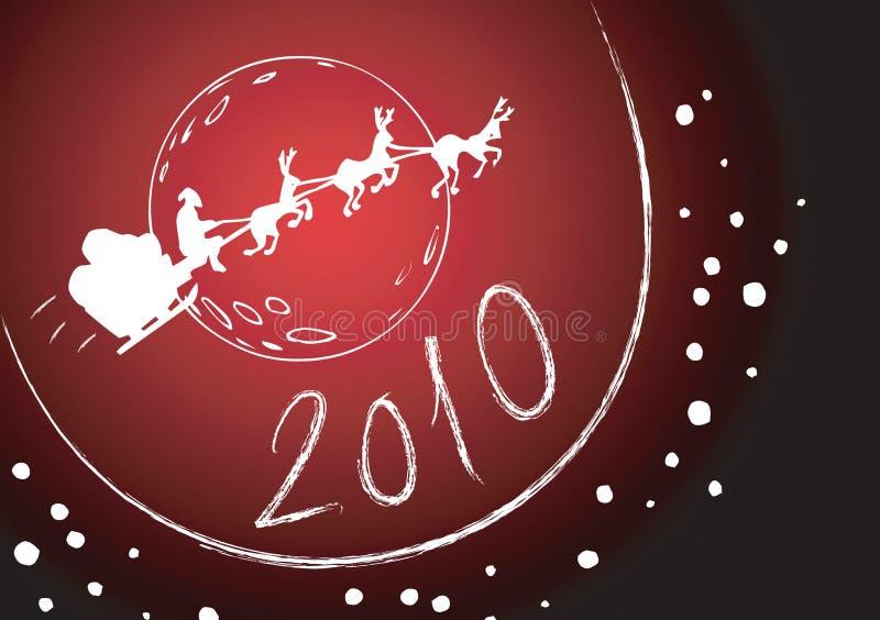 2010个看板卡圣诞节问候 向量例证