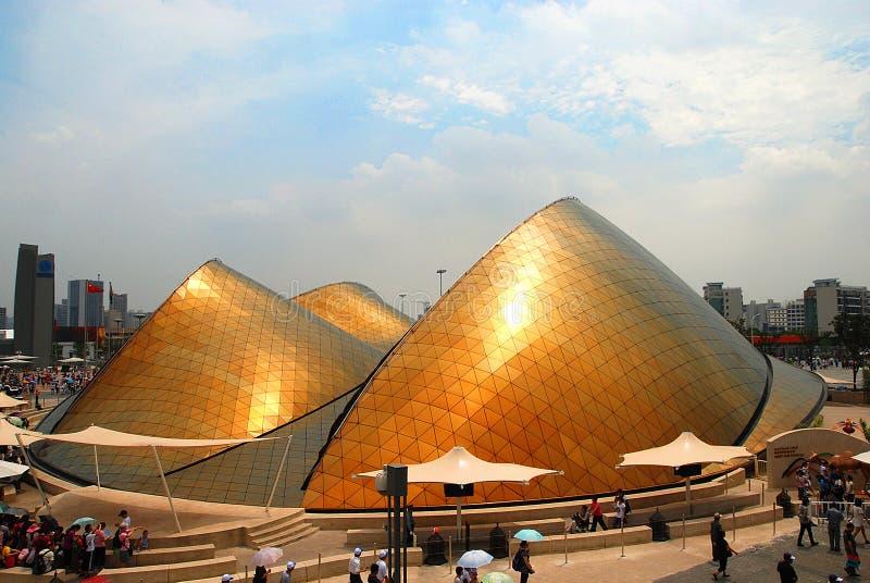 2010个阿拉伯酋长管辖区商展亭子上海ࢰ 免版税库存图片