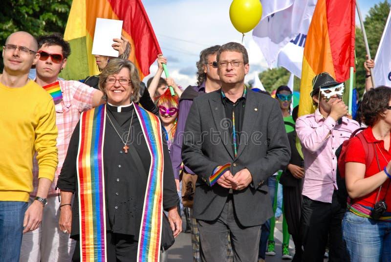 2010个fest同性恋游行参与者 免版税库存照片