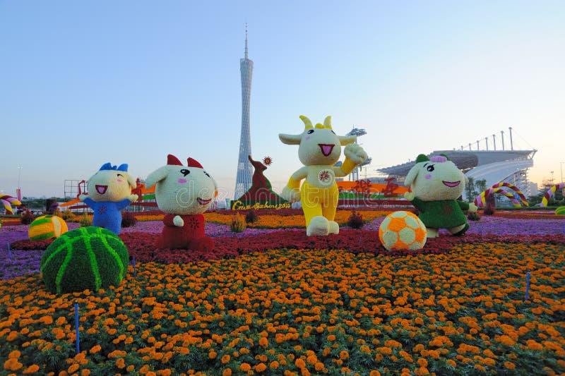 2010亚运会广州haixinsha正方形 库存图片