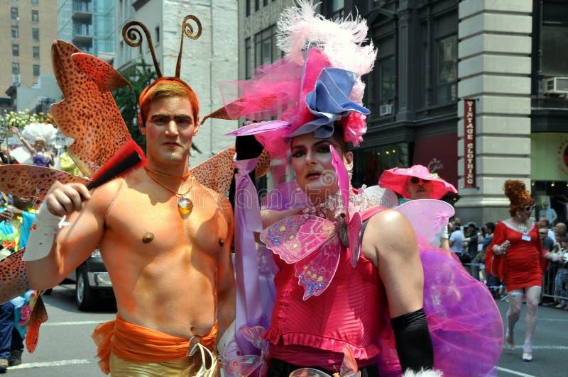 2010位同性恋者nyc游行自豪感 库存图片
