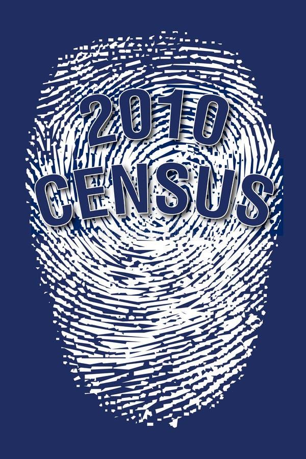 2010年人口调查指纹 向量例证