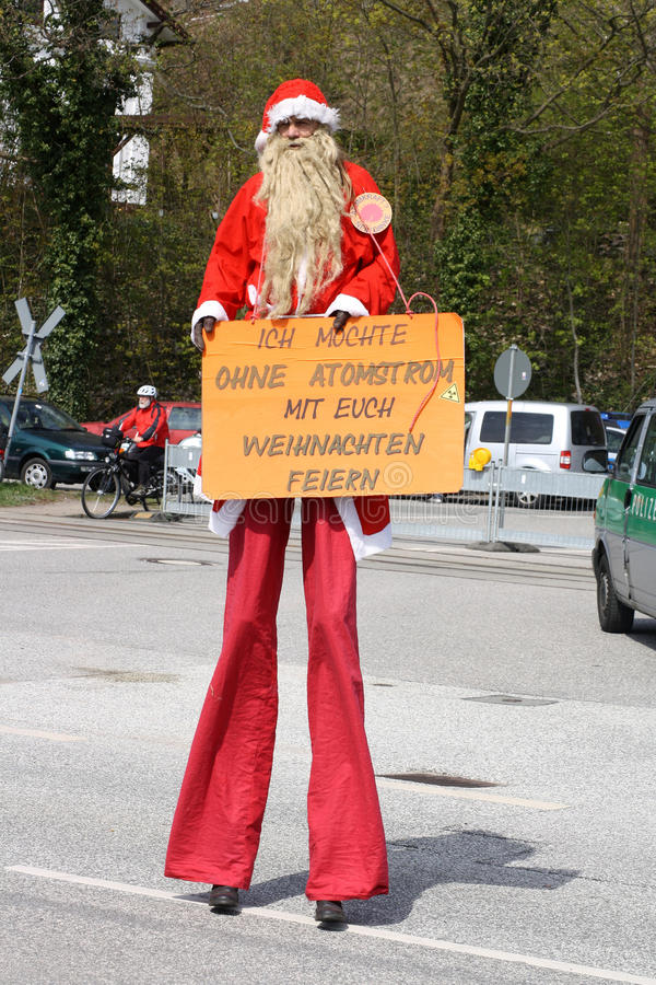 2010年反德国核拒付 图库摄影
