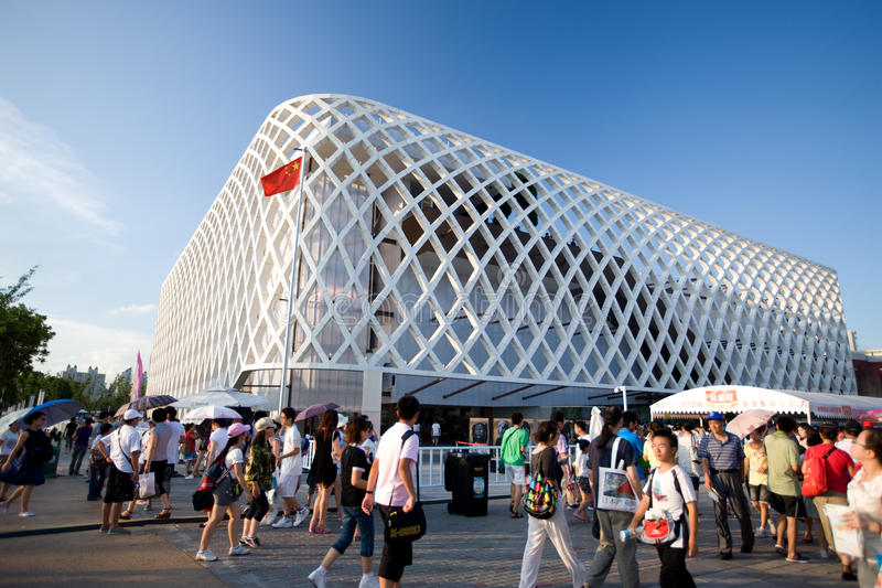2010年商展法国亭子上海 免版税库存图片