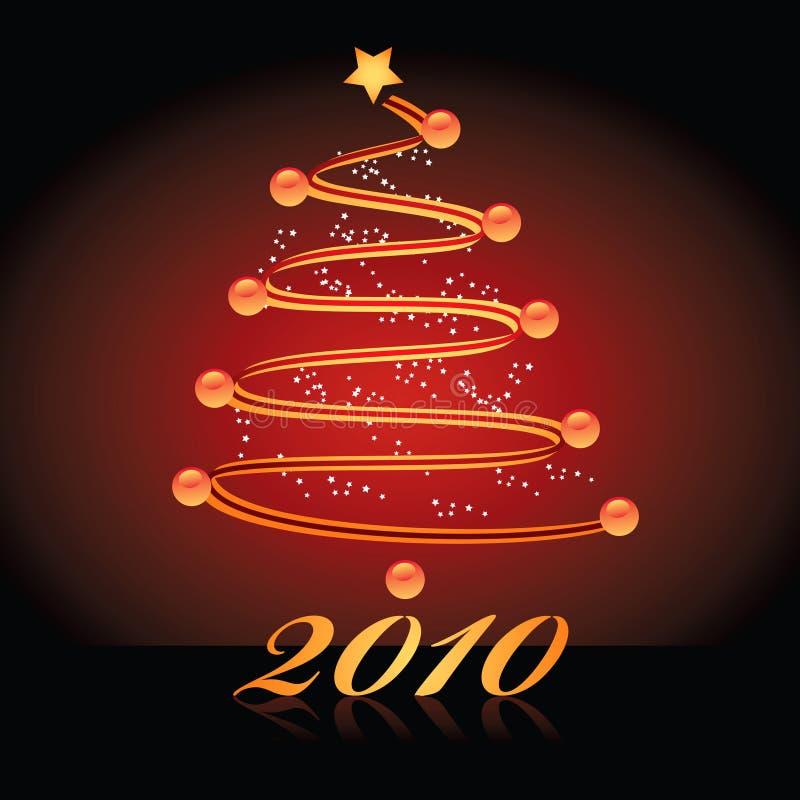 2010年圣诞树 库存例证