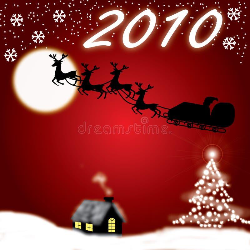2010年圣诞节新年度 向量例证