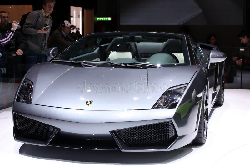 2010年日内瓦lamborghini汽车展示会superleggera 库存照片