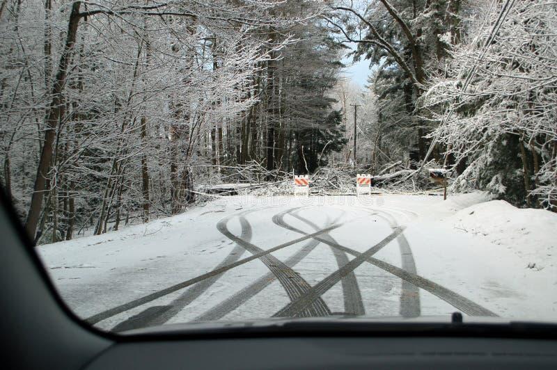 2010年汉普郡新的风暴冬天 免版税库存图片