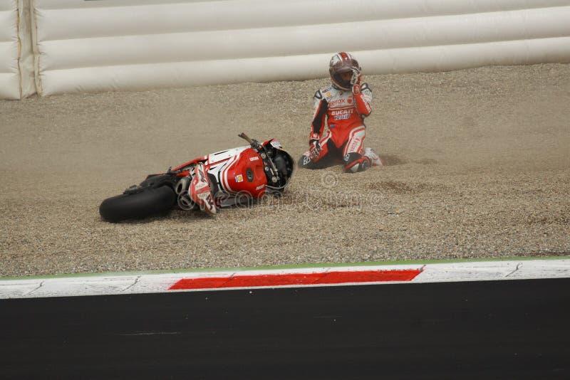 2010年法布里齐奥・ michel superbike 免版税库存照片