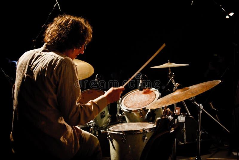2010年节日爵士乐koktebel保罗roges三重奏 库存照片