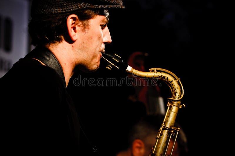 2010年节日爵士乐koktebel保罗roges三重奏 免版税库存照片