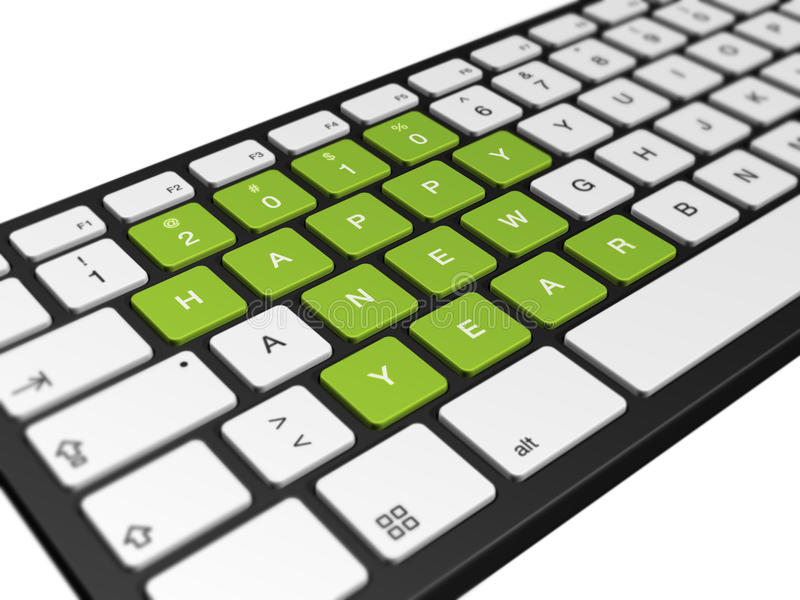 2010年计算机键盘新年度 库存例证