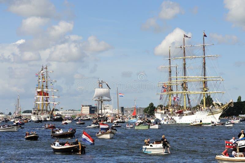 2010年阿姆斯特丹风帆 图库摄影