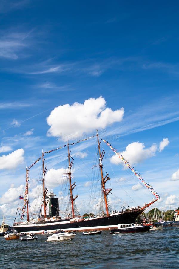 2010年阿姆斯特丹风帆 库存照片