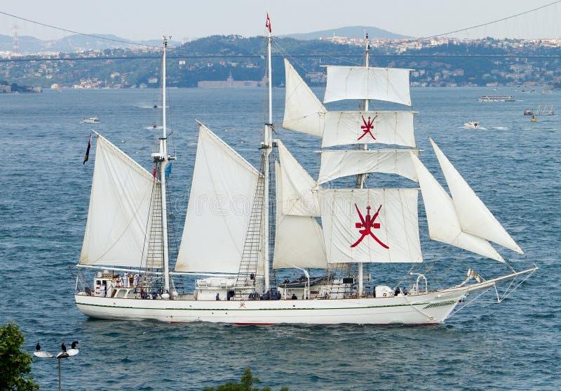 2010年阿曼赛船会shabab发运高 库存照片