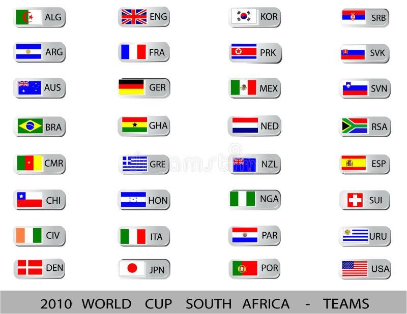 2010年非洲杯子南世界 向量例证